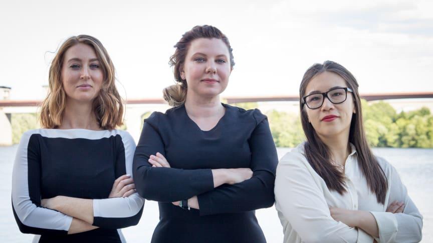 Louise Wohrne, Maija Bigestans och Elin Li. Grundare av Industripodden