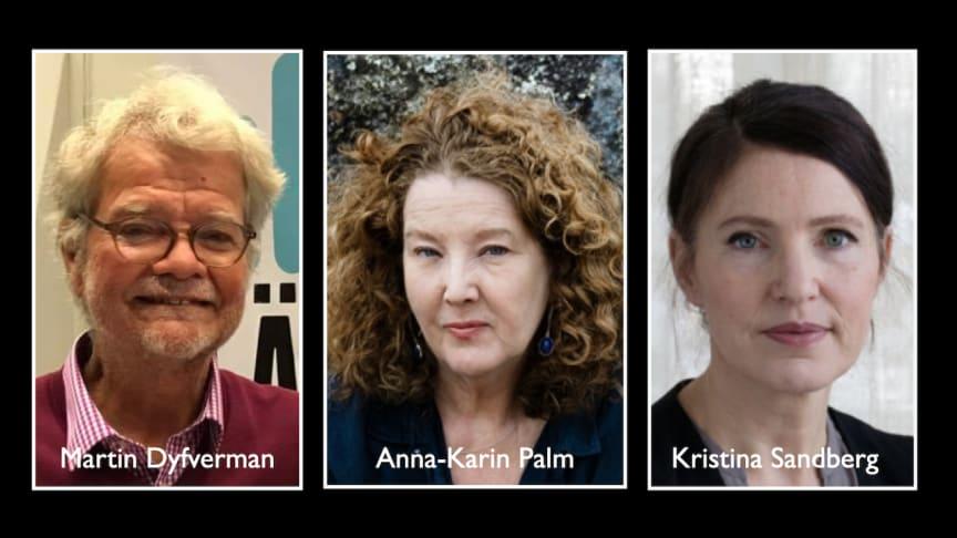 Höstens författargäster i Svalbo. Foto: Länsradion, Moa Karlberg och Maria Annas