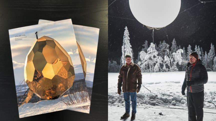 Boken om Solar Egg och eventet då Riksbyggen tände midnattssolen över Gällivare är nominerade till Svenska Designpriset.