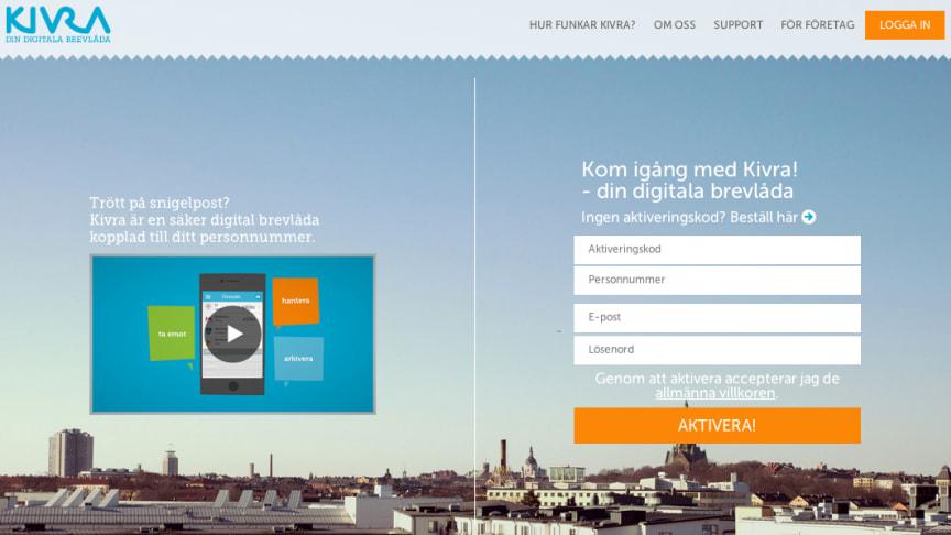 Kivra lanserar ny design av sin webb som förenklar för besökare att komma igång med sin digitala brevlåda!