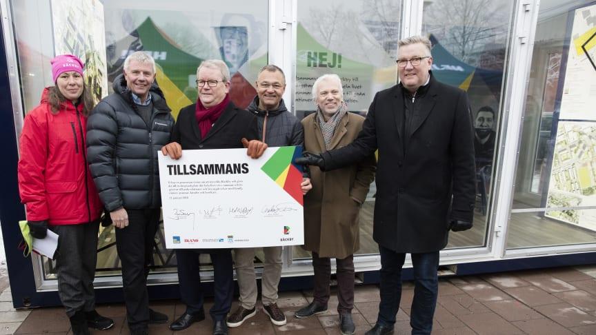 Tillsammans är ett ledord för BoKlok, Ikano Bostad, Mimer och Västerås stad i utvecklingen av Bäckby centrum.