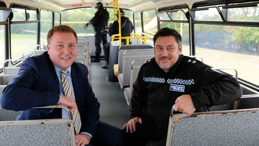 (L-R) Stephen King GNE and Inspector Karl Brown, of Cleveland and Durham Specialist Operations Unit