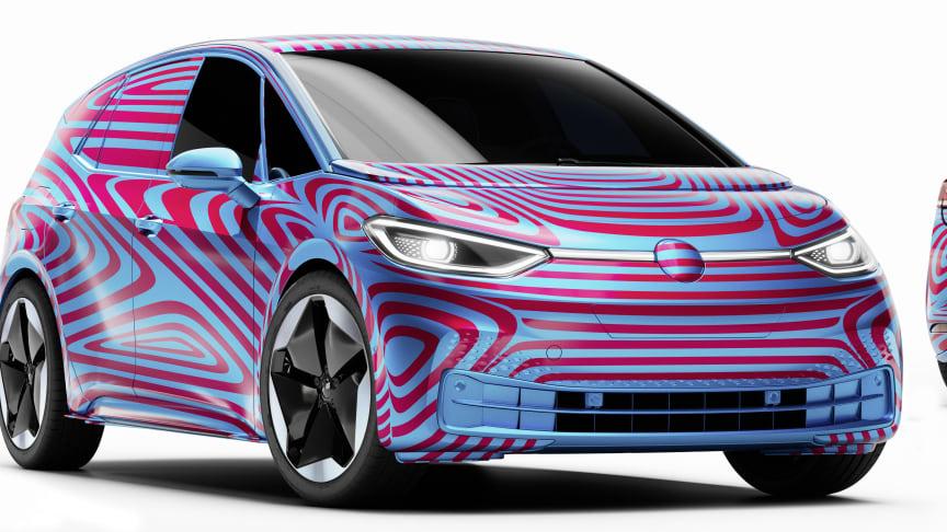Volkswagen åbnede for pre-bookinger af ID.3 1st torsdag den 8. maj, men den har først verdenspremiere til september