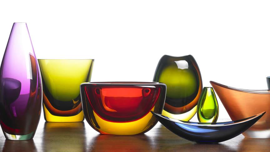 Torben Sørensen's glass collection