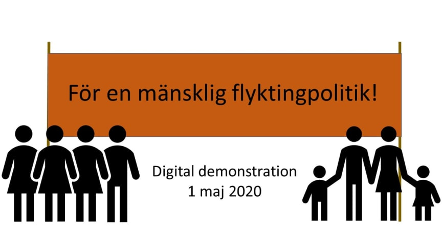 Digitalt 1 maj-tåg för en mänsklig flyktingpolitik en succé!