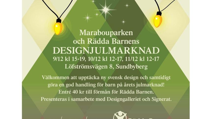 Designjulmarknad på Marabouparkens konsthall 9-11 december
