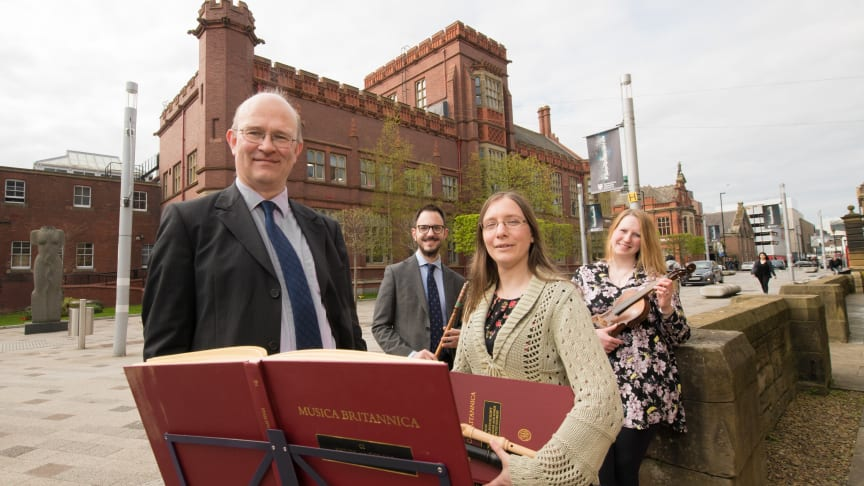 From l-r: Professor David Smith, Kris Thomsett, Dr Katherine Butler and Dr Rachael Durkin, from Northumbria University's new Music degree.