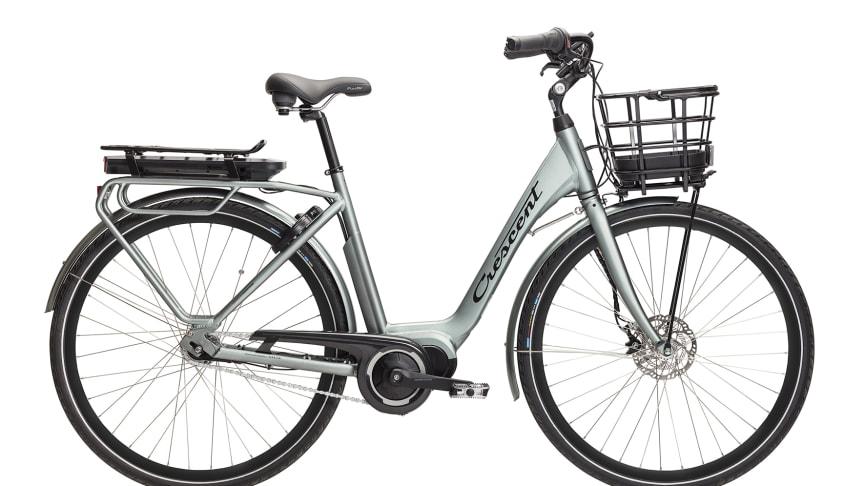 Crescents smarta elcykel Ellie med integrerade låsningsfria bromsar (Koppla ABS) och internetuppkoppling med egen app (Koppla Connect).