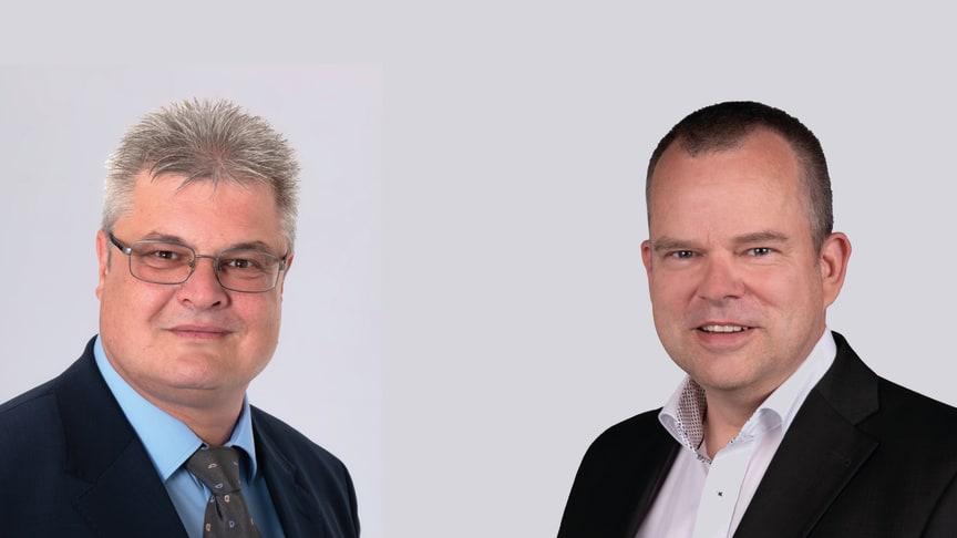 Alex Reichen (links), Nachfolger Hotel Alpenruh und Marco Froese, Nachfolger Hotel Blumental