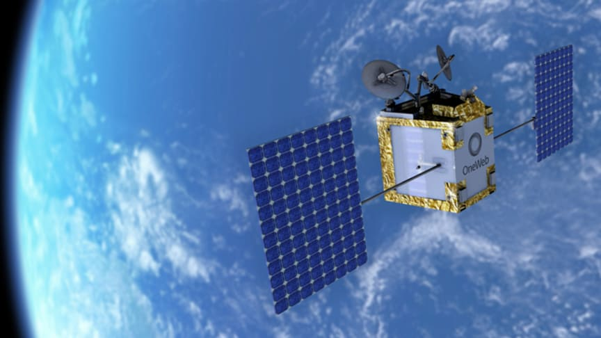 Photo: (credits: OneWeb) Artist's view of a satellite in the OneWeb constellation