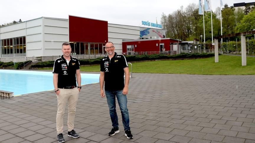 Andreas Jaldevik, VD på RO-Gruppen och Jonas Söderberg, Sportchef på SK Elfsborg.