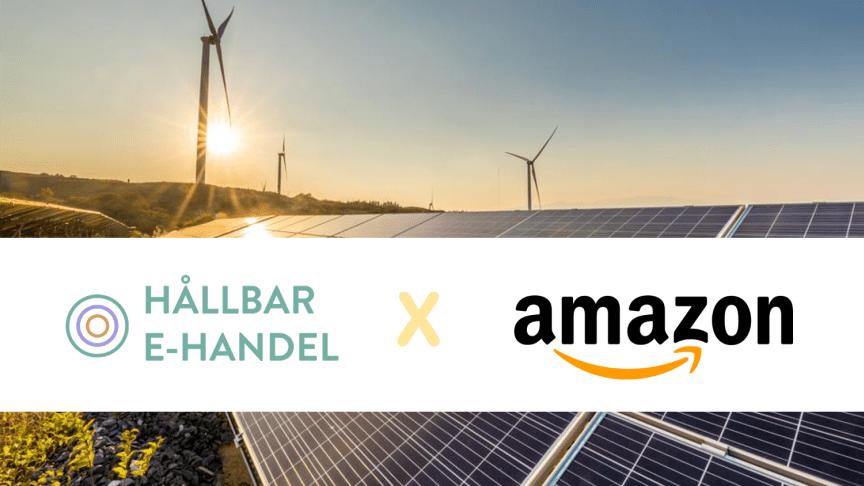 Amazon blir medlem i Hållbar E-handel.
