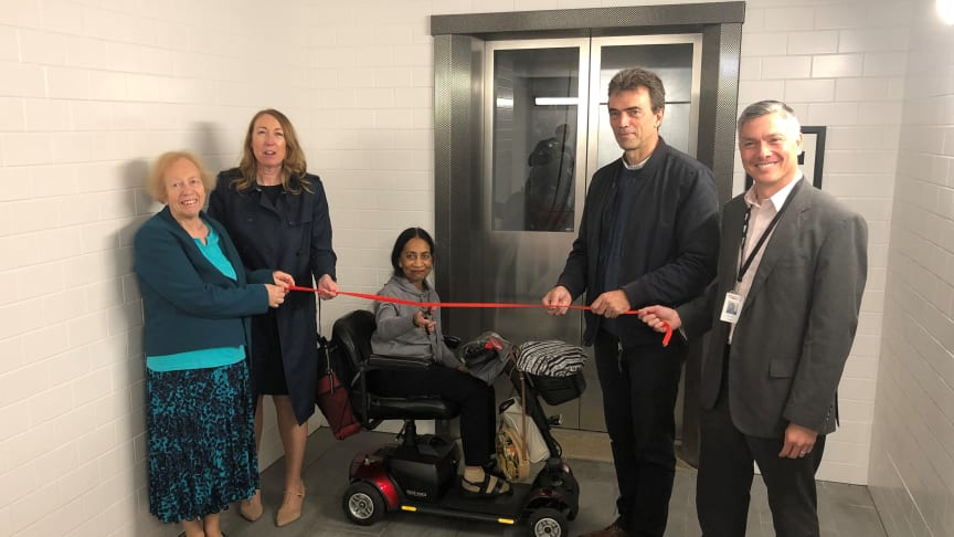 A ribbon cutting marks the unveiling of new lifts at Carshalton station