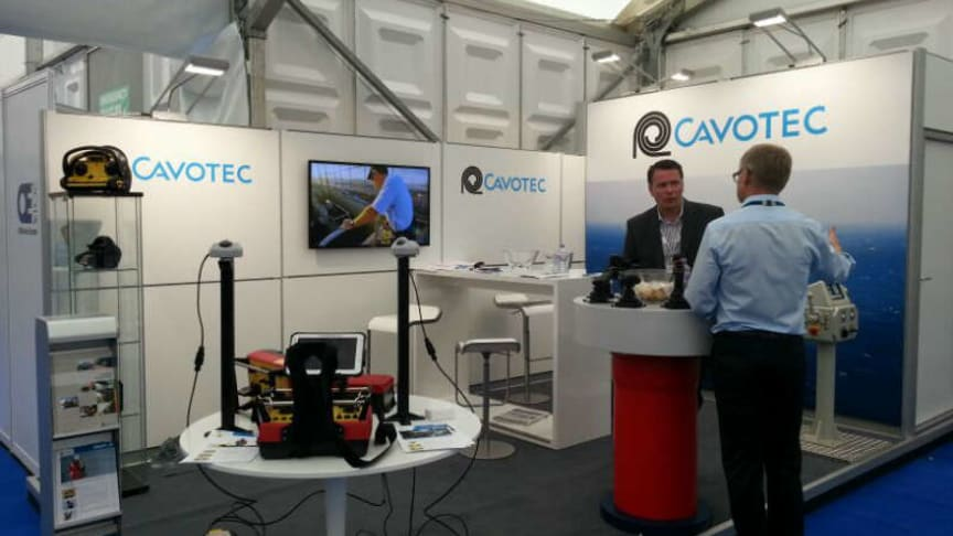 The Cavotec team prepare for day two of SPEOE13