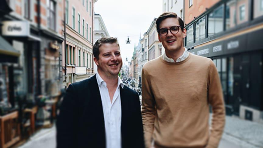 Carl-Gustav Öberg, VD Be Better Online, tillsammans med nya kollegan och managing partner på Helloy, Henrik Nilsson. Foto: Jessica Johansson