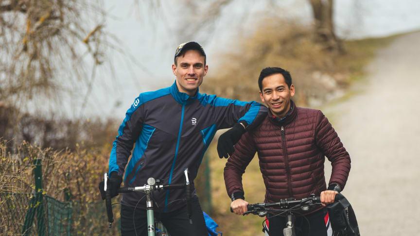 Valentin och Sam ska cykla runt jorden till förmån för SOS Barnbyar.