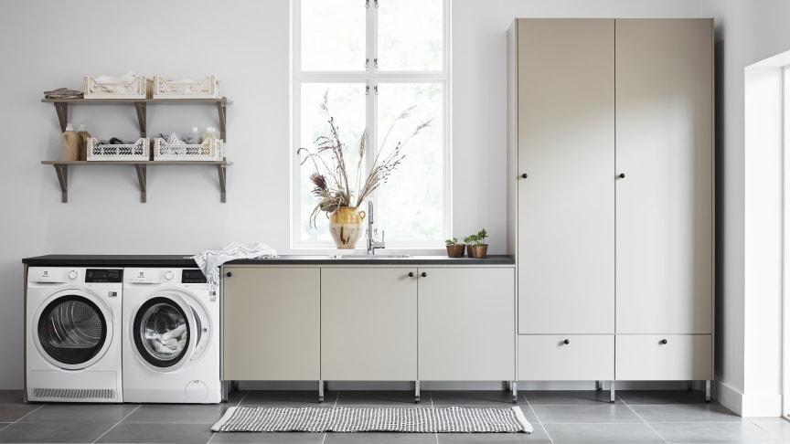 Slik blir vaskerommet en praktisk hverdagsdrøm – tre tips fra Vedum