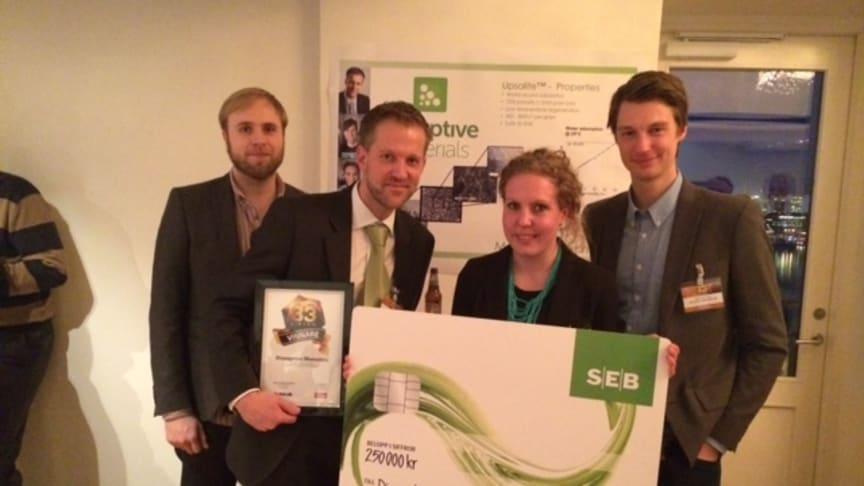 Almi Invest delar ut priset Årets titthålsinvestering till bolaget Disruptive Materials