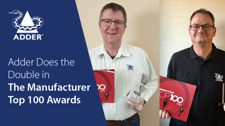 Barry Cathrall and Stuart Mitchell proudly present their Manufacturer Top 100 Awards