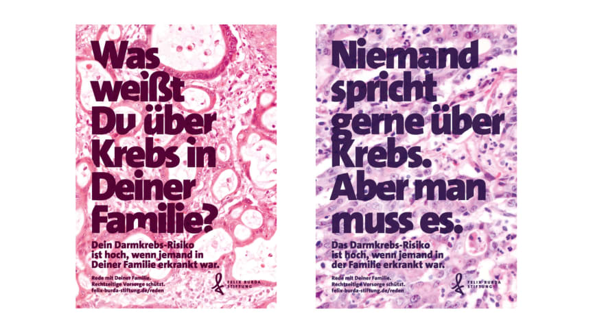 Printmotive der neuen Werbekampagne zum Darmkrebsmonat März 2019