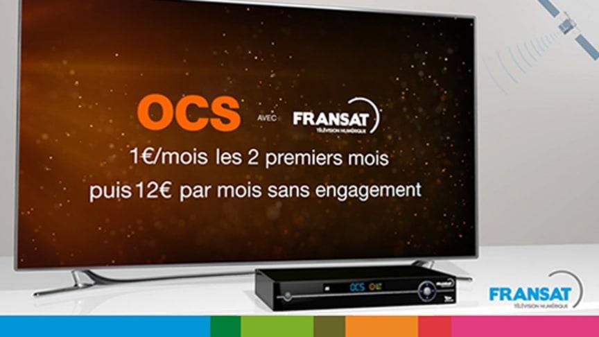 Lancement d'OCS, le bouquet 100% cinéma séries, sur FRANSAT