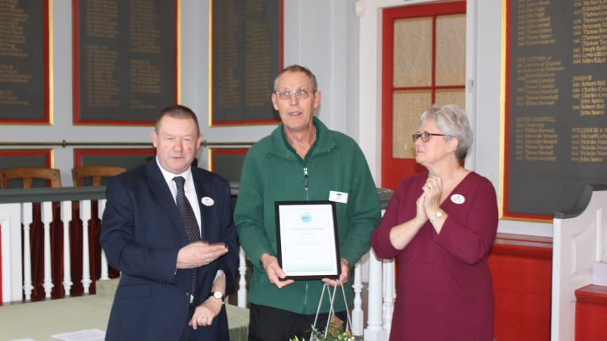 Dave Linnell has been praised for always offering a helping hand with community rail projects.
