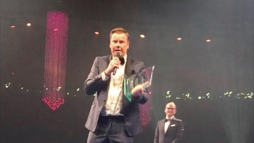 Jens Lyckmans tacktal till sina 3000 kollegor, där han bland annat tackade sin 7-åriga dotter.