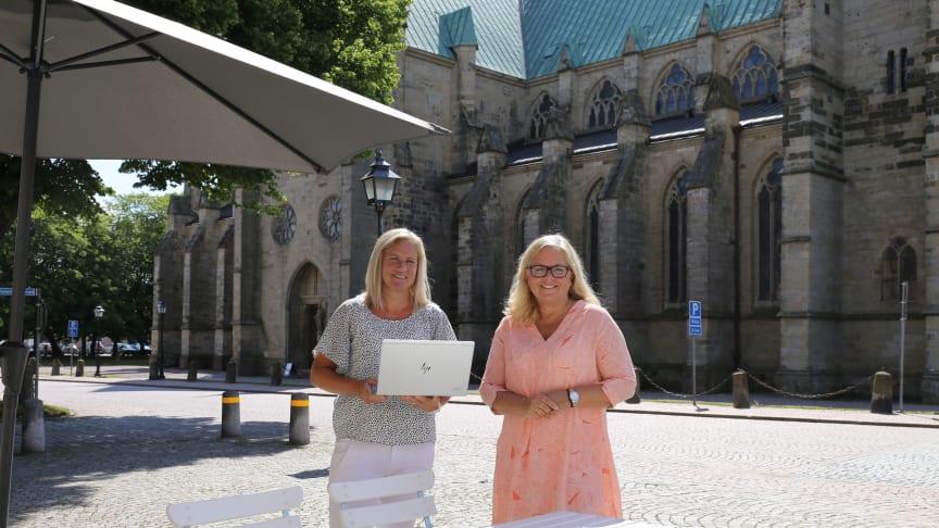 Sara Salegård, Digitaliseringsstrateg och Helena Nyman Friberg, Näringslivsstrateg.