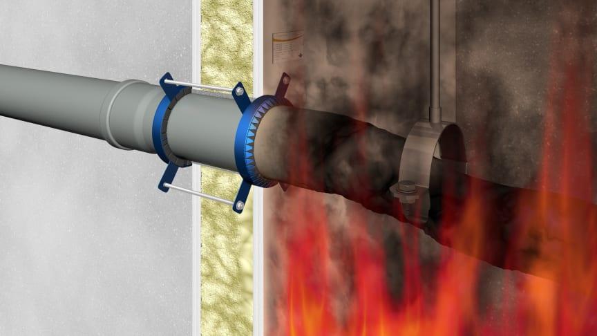 Abschottung mittels Brandschutzmanschette - so funktioniert es