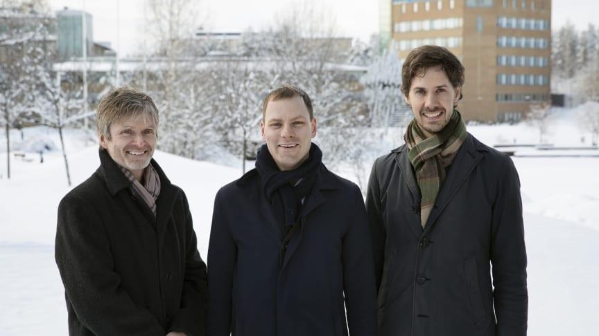 Erik Elmroth (grundare), Robert Winter (CEO) och Johan Tordsson (grundare)