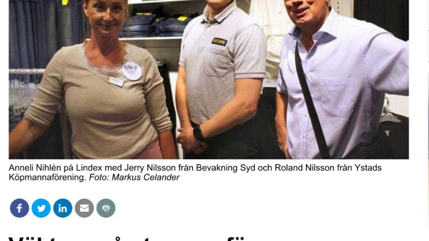 CoYards hjälper butikspersonalen i Ystad