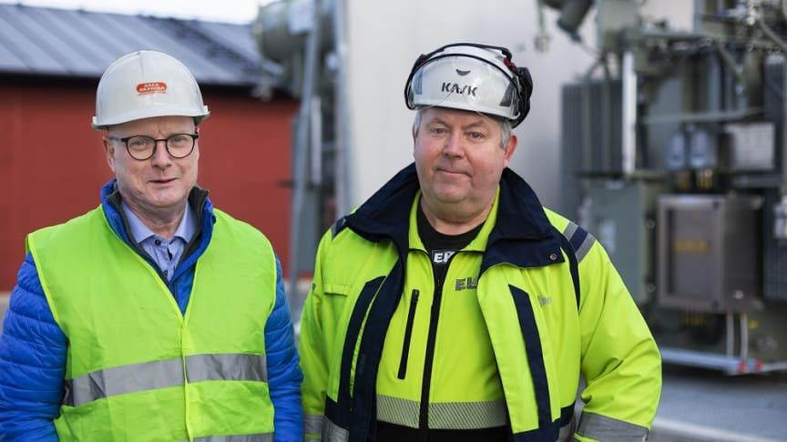 Göran Liljedahl, Utesäljare Elektroskandia och Tomas Rosenqvist, Projektledare Eltec