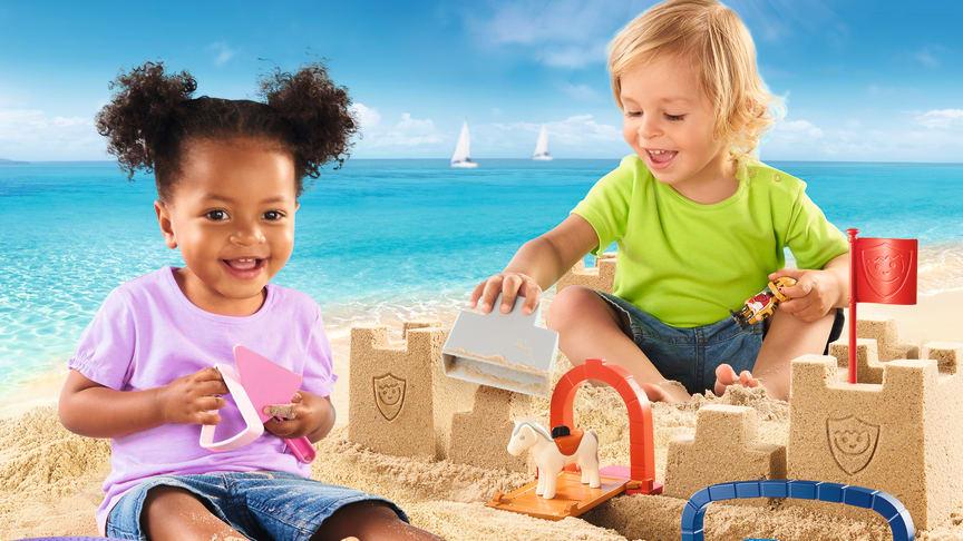 Kreativspiel im Sand mit PLAYMOBIL 1.2.3