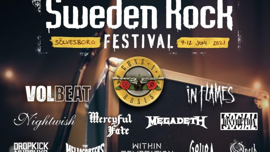 SWEDEN ROCK FESTIVAL PRESENTERAR 2021 ÅRS INBOKADE BAND