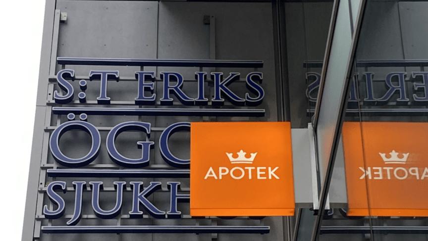 Kronans Apotek öppnar nytt på S:t Eriks Ögonsjukhus i Solna
