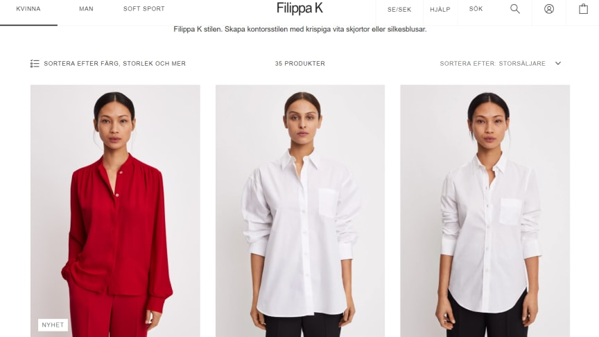 Filippa K lanserar ny, snabb e-handel tillsammans med Avensia