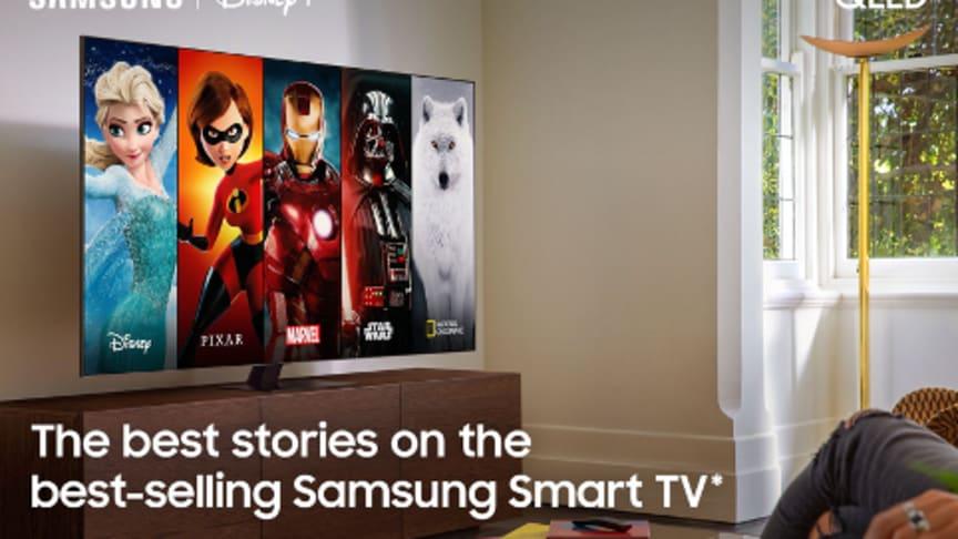 Disney+ kommer på Samsungs Smart TV-er i Norden