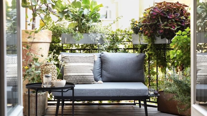 Rusta för skönt balkonghäng