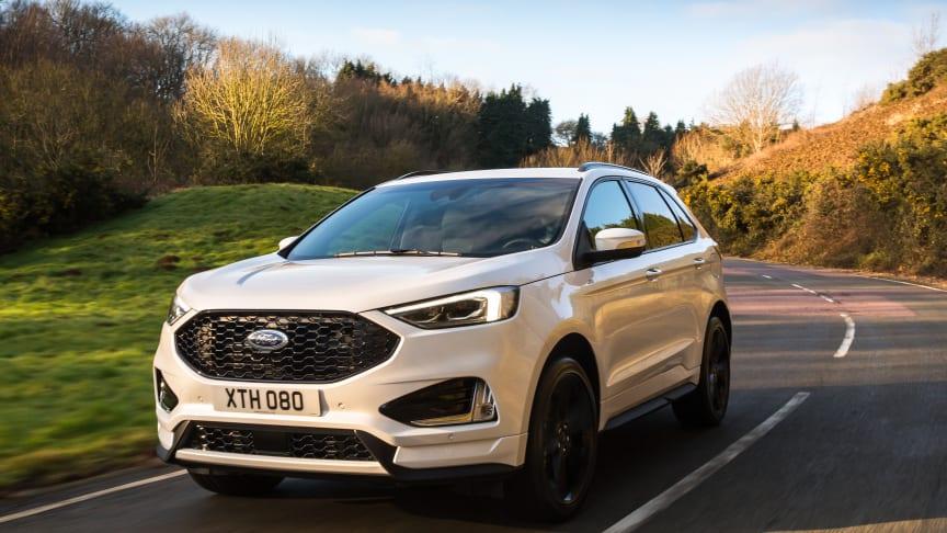 Den nye Ford Edge SUV er fyldt med den nyeste teknologi for bedre sikkerhed, brændstoføkonomi og komfort.