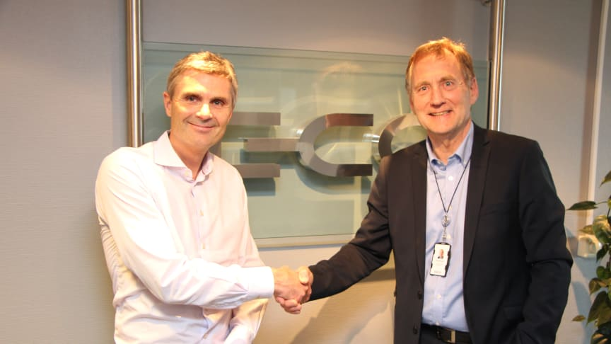 John Markus Lervik, gründer og administrerende direktør i Cognite, og Alf Inge Berget, administrerende  direktør i E-CO Energi
