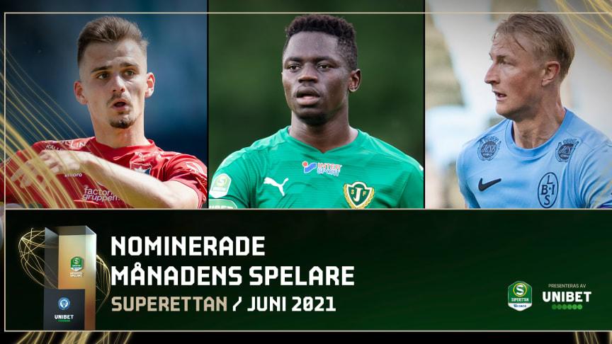 Dags att utse juni månads bästa spelare och tränare i Superettan
