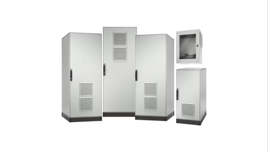 EcoStruxure mikrodatasenter-løsninger er konfigurerbare og forhåndspakkede med vedlagte racksystemer som inkluderer strøm, kjøling, sikkerhet og administrasjon.