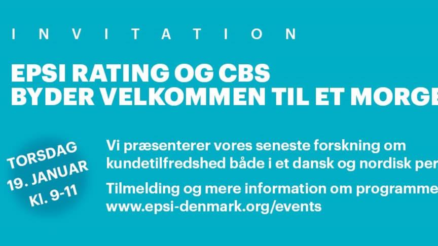 EPSI RATING OG CBS BYDER VELKOMMEN TIL ET MORGENSEMINAR