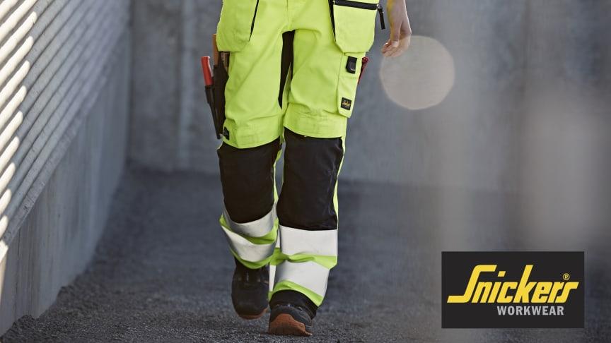 6730 AllroundWork, High-vis Arbeidsbukse for kvinner med hylsterlommer Klasse 2