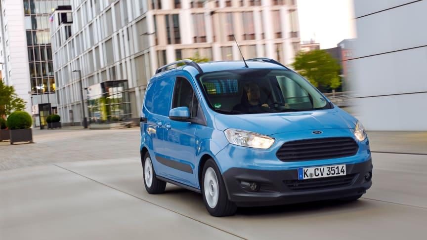 Ny Ford Transit Courier med klassens bedste økonomi og lastekapacitet