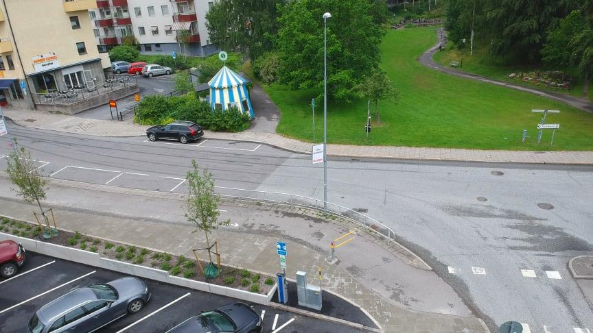 En av Karlskoga Energi & Miljös laddstationer som kommer att ingå i Bee´s publika laddnätverk