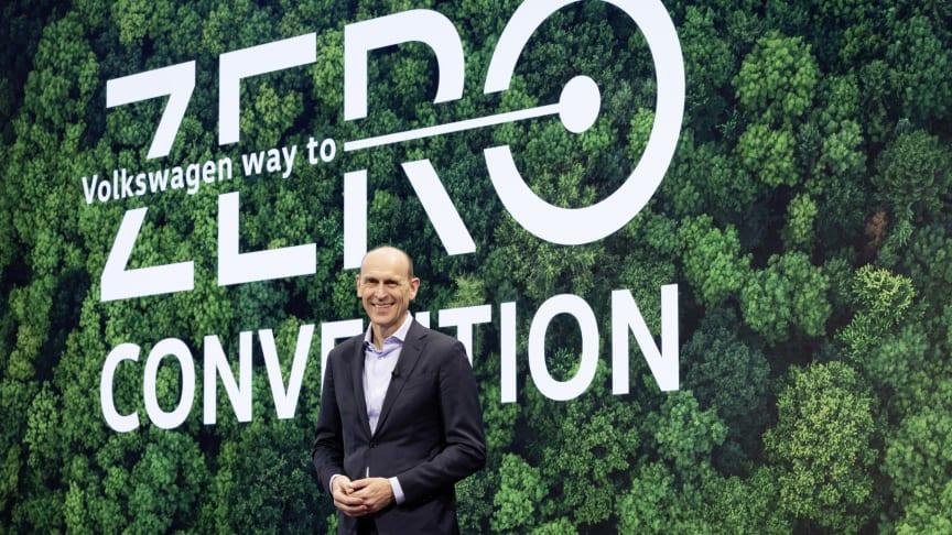 Ralf Brandstätter, CEO for Volkswagen,fremlagde på Wa-to-zero-kongressen køreplan for, hvordan koncernen bliver klimaneutral senest i 2050