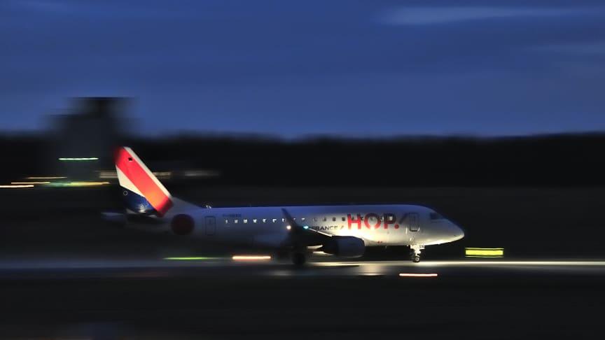 Air France HOP aircraft at Billund airport