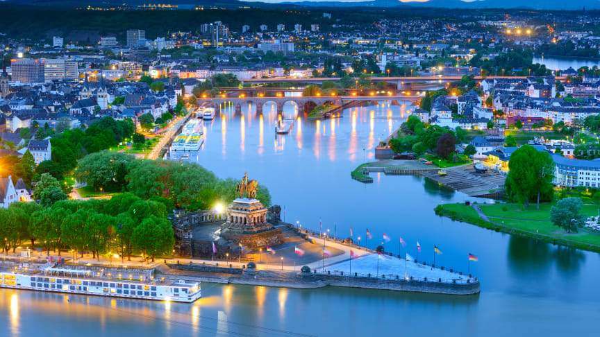 Koblenz: Deutsches Eck (German Corner) © Deutsche Zentrale für Tourismus e.V.  F: Francesco Carovillano