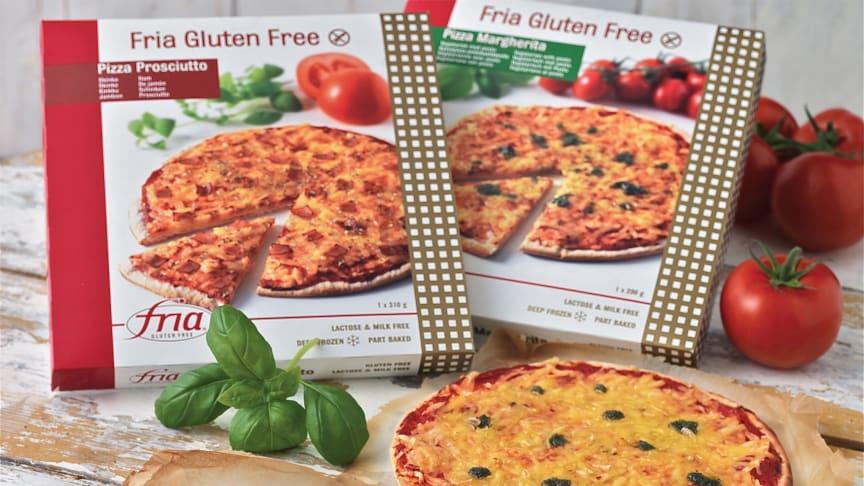 Fria lanserar nya pizzor utan gluten, mjölk och laktos